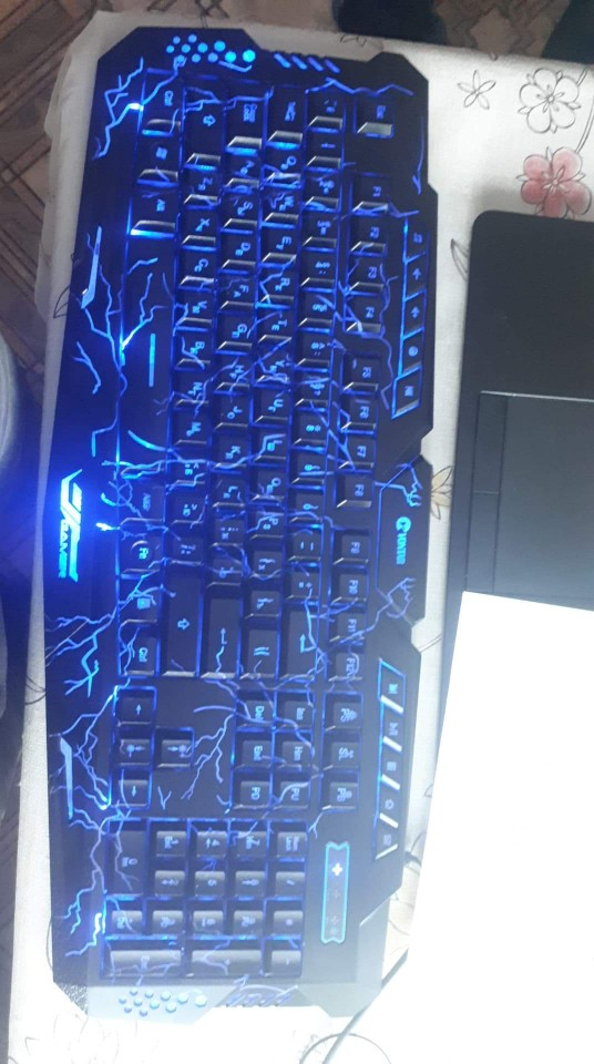 M200 Backlit Game keyboard Russian/English 3 Color LED Backlight Wired USB Gaming Keyboard and Optional Mouse for overwatch dota