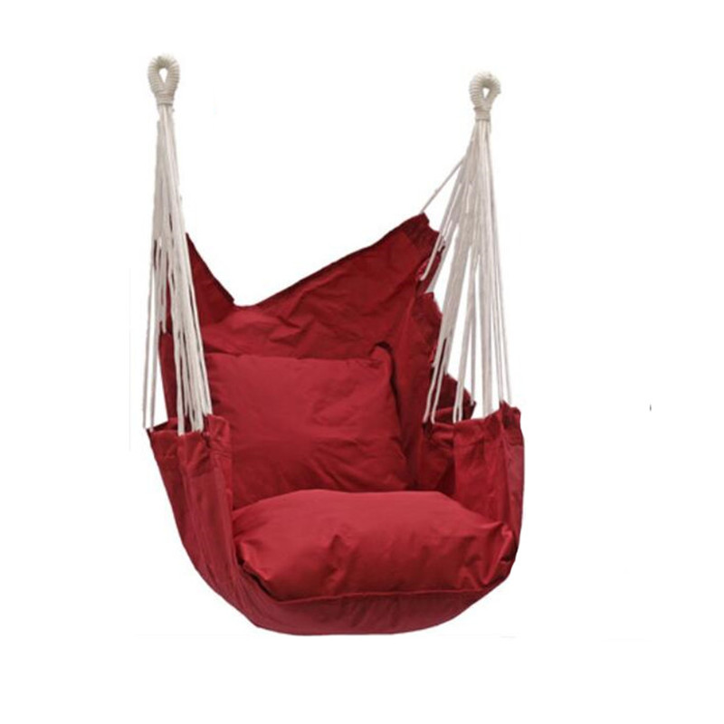 Garden Swinging Hanging Chair Indoor Outdoor Furniture Hammocks Thick Chair Cushion Integration Dormitory Swing Hammock Camping