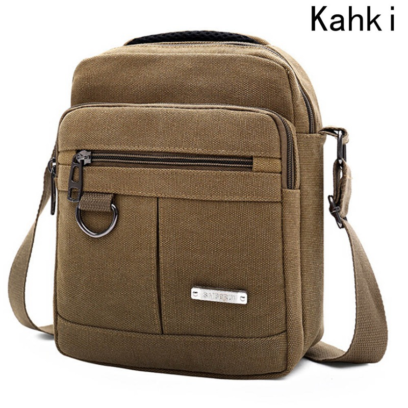 Fashion Men Shoulder Crossbody Bag High Quality Canvas Handbag Messenger Bag Casual Travel Bags Men Messenger Bags Male Clutches