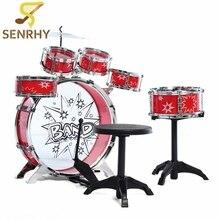 SENRHY Kids Junior Drum Kit Music Set Children Kids Junior Drum Set Drums Kit Percussion Musical