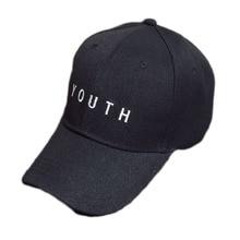 2017 Fashion Cap Women Men Summer Spring Cotton Caps Women Letter Adult baseball Cap Black White Hat Snapback Women Cap