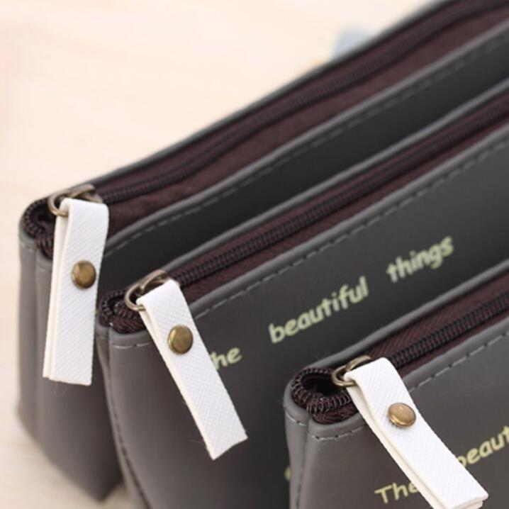 1 шт./лот Kawaii Япония Кот PU Водонепроницаемый пенал сумка очистить мешок студентов подарок приз школьные, офисные принадлежности