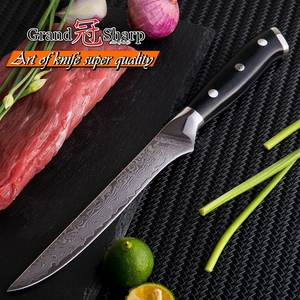 Image 2 - Cuchillo de deshuesar Damasco vg10 de 5,5 pulgadas, cuchillo carnicero de acero damasco japonés, cuchillos de cocina para Chef, utensilios de cocina para cortar y filetear