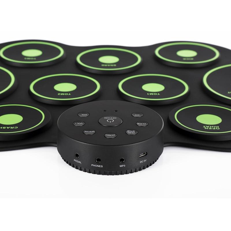 Eva2king Silicone Drôle Électronique Portable Tambours Numériques Pratique D'instruments de musique Avec Pilons Musique Jouets Pour Enfants - 5