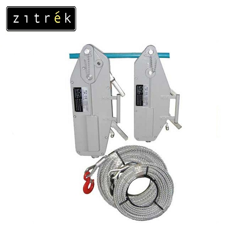 Assembly and traction mechanism Zitrek MTM g / n 1,6 tn. L = 20 m Reeving tackle Power hoist Lifting tackle Chain pulley pulley n the bedlam stacks