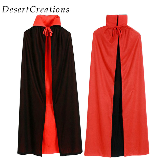 adult witch long red black halloween cloaks hood and capes halloween costumes for women men party