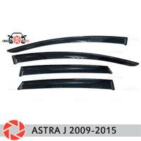 Deflector janela para Opel Astra J 2009 2015 chuva defletor sujeira proteção styling acessórios de decoração do carro de moldagem|Estilo de cromo| |  -