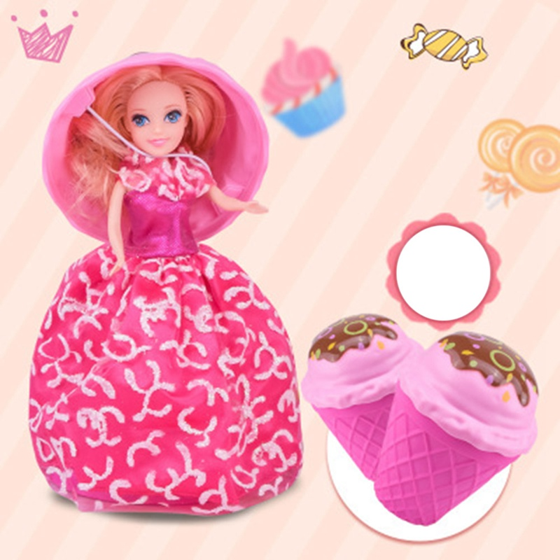 Creative Cupcake Princess Doll Deformable Dolls Girl Cute Toy Birthday Present Mini Cake Doll Toys