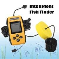 FF1108 1 Portable Sonar Alarm Fish Finder Echo Sounder LCD Blue Color Screen 0 6 100M