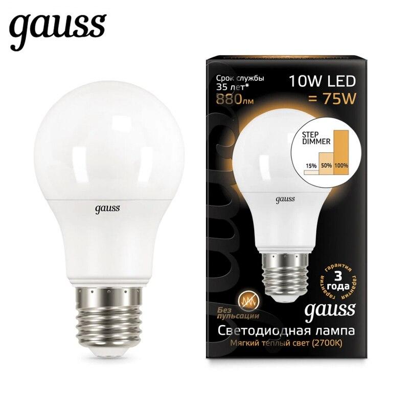 Lampe à LED Ampoule diode E27 A60 10 W 2700 K 4100 K étape dimmable Gauss lumière blanc froid blanc chaud Lampada Ampoule Bombilla lampe lumière