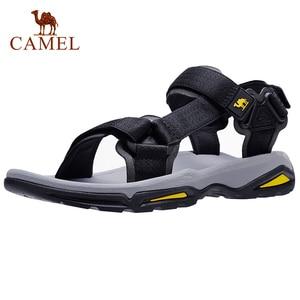 CAMEL Men's Sandals Strap Athletic Men Shoes Waterproof Hiking Walking Beach Outdoor Summer Male Footwear(China)