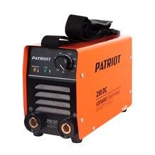 Аппарат сварочный инверторный PATRIOT 250DC MMA Кейс (Выходной ток 20-200 А, диаметр электродов 1.6-4.0 мм, мощность 8200 Вт, ПВ при макс.токе 60%, работа при пониженном напряжении 140-240 В)