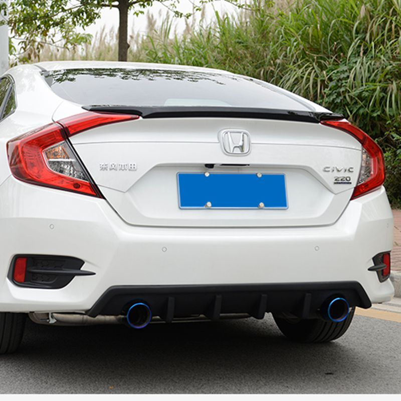 Primer Grey Unpainted ABS Sports Car Rear Trunk Spoiler