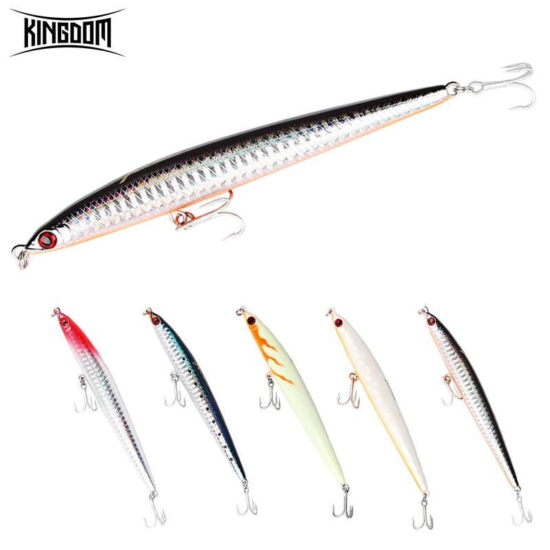 KINGDOM Hot Fishing Lures 124mm 17/30g High Quality Artificial Baits Sinking Pencil Good Action Hard Baits Wobblers Model 5383
