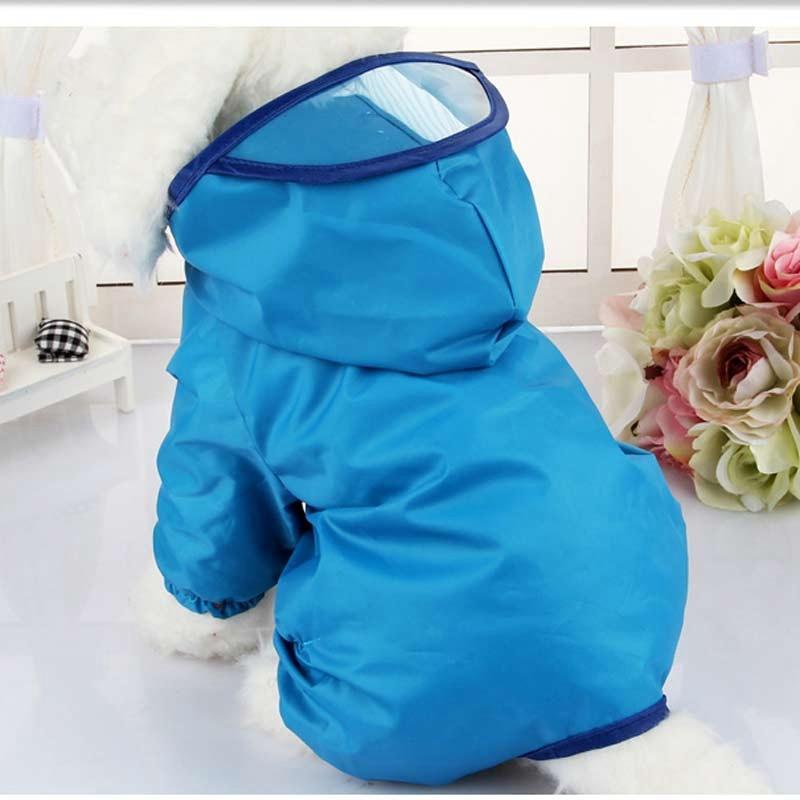 Rain Jacket Poncho Rain Coat For Dog Large Dog Hooded Raincoat Medium Dogs Rain Clothingdog Trench Coat Leisure Rainwear