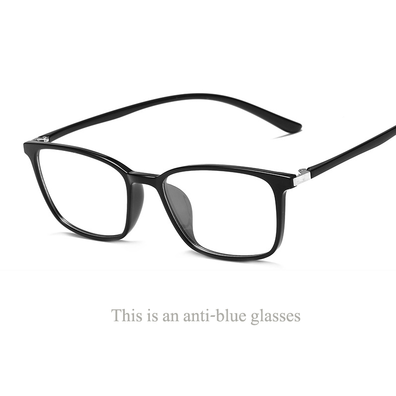 8db943f2c515 Exquisite Square Shape TR glasses frame ultra light anti blue eye  protection trend glasses Korean students literary flat mirror.-in Eyewear  Frames from ...