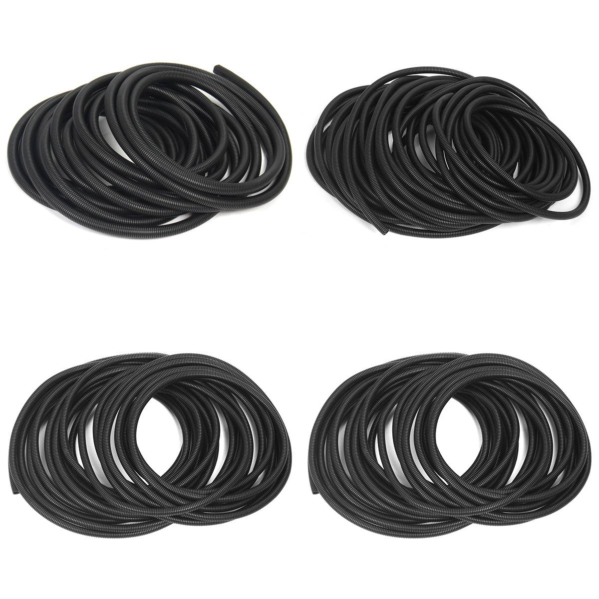 "100 Ft 5/16"" Flexible Bellows Hose Corrugated Conduit Cable Split Wire Loom  Polyethylene Tubing Sleeve Tube Pipe-in Wiring Harness from Home  Improvement on ..."