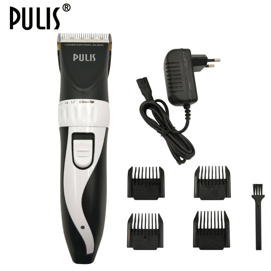 PULIS Professional Hair Clipper Men Electric Haircut Machine 100-240V Rechargeable Hair Trimmer Barber Tool Limit Combs for Home 2018 kemei hair clipper hair cutting kit groomer haircut machine hair styling tool barber shave clippers men trimer limit combs