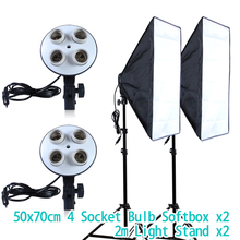 Diffuser Light 50 70cm Continuous Lighting Softbox for 4 in 1 Socket E27 Lamp Holder with