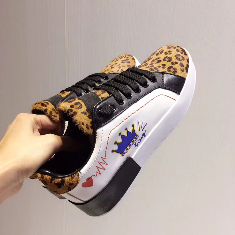 New Fashion Leopard Print Horse Hair Women Casual Shoes Graffiti Lace Up Round Toe Sneaker Outfit Gladiator Loafers Shoes Woman chic leopard with tartan print maxi casual skirt for women