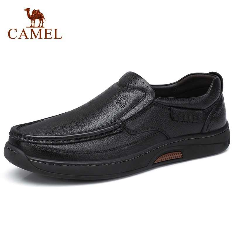 CAMEL New Comfortable Genuine Leather Men Shoes Male Formal Business Loafers Men's Leather Casual Shoes Zapatos Mocasin Hombre