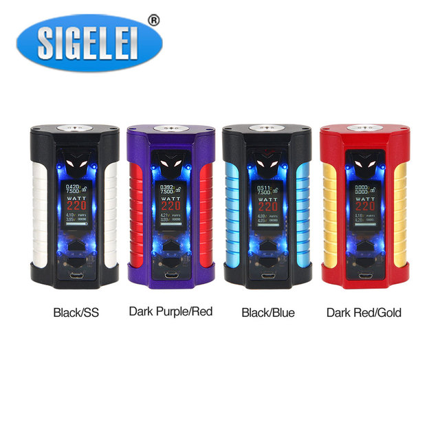 US $34 99 |Original Sigelei MT 220W TC Box MOD Max 220W Output Neat &  Dynamic Appearance with Colored TFT Display No 18650 Battery Vape Mod-in