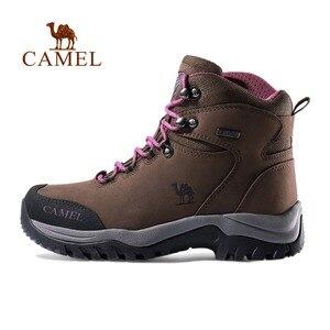 Image 2 - CAMEL, Zapatos altos de senderismo para mujer, zapatos duraderos antideslizantes cálidos para escalar al aire libre, zapatos de Trekking, botas tácticas militares