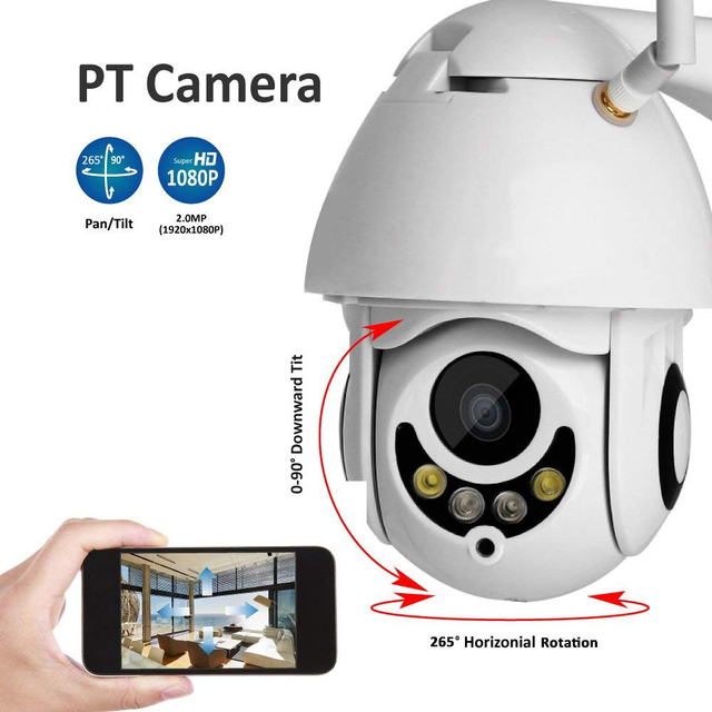 US $92 64 15% OFF|Outdoor Wireless WiFi Security Camera Pan Tilt HD 1080P  IP Camera Night Vision Motion Detection 5 x optical zoom camera ip Cam-in