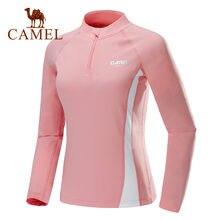 Camel Женская спортивная рубашка с длинным рукавом осень 2019