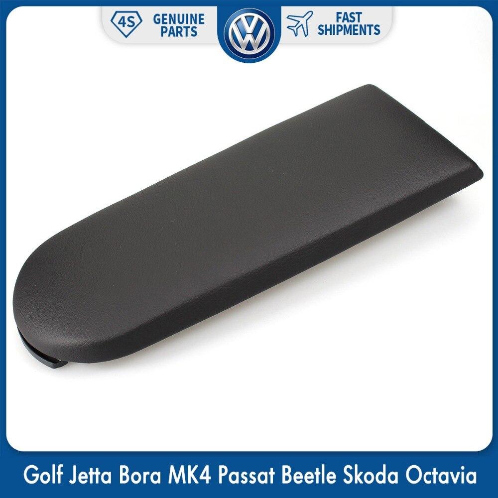 Center Console Fermo Coperchio Nero Bracciolo del Cuoio della Copertura per il VW Volkswagen Golf Jetta Bora MK4 Passat Beetle Skoda Octavia