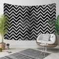 Sonst Grau Weißen Streifen Linien Geometrische Nordec 3D Druck Dekorative Hippi Böhmischen Wand Hängen Landschaft Wandteppich Kunst