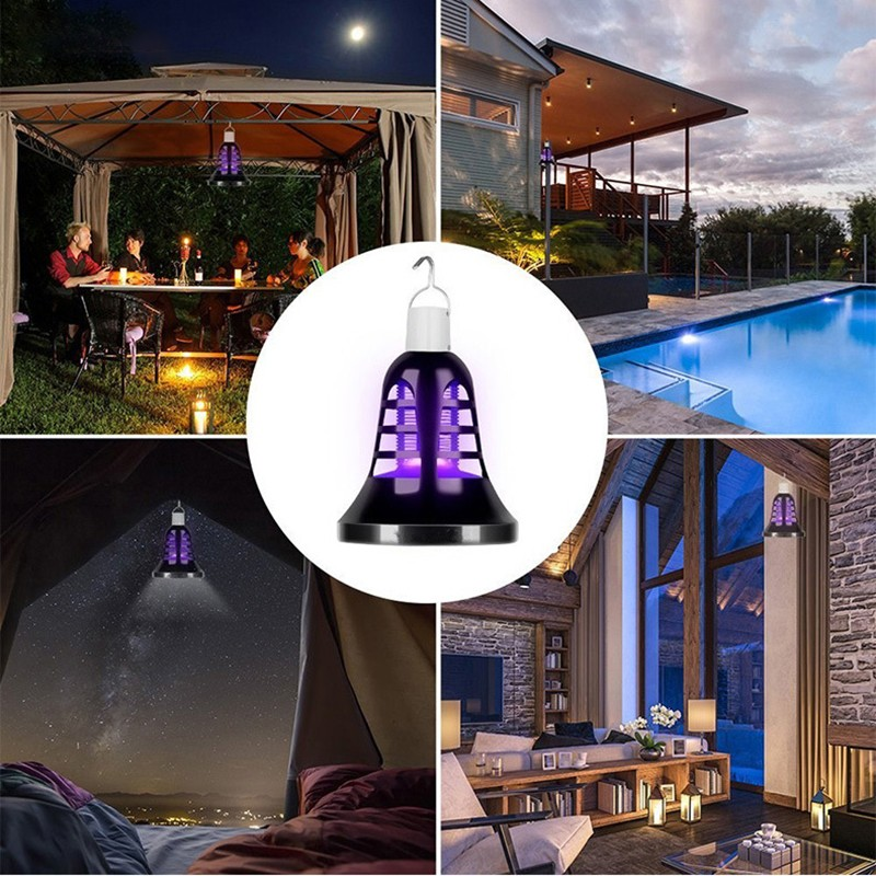 Summer 2019 Insect Mosquito Killer Light Indoor Outdoor Garden Electric Shock Ultraviolet Lamp Bug Trap Camp USB Mosquito Killer in Repellents from Home Garden