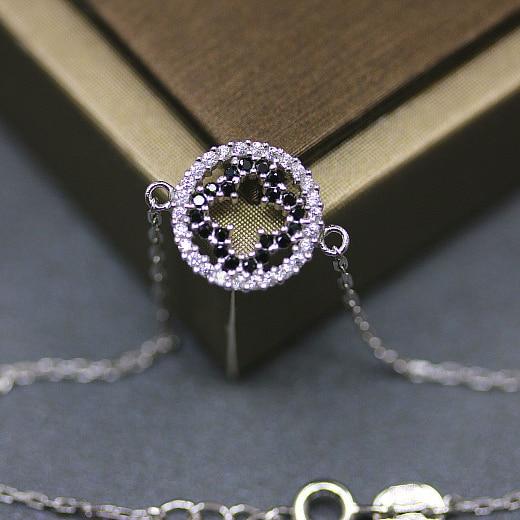 925 Sterling Silver Plum Bracelet Full Zircon Simple Fashion Hollow Clover Jewelry Braceles Creative Bracelets