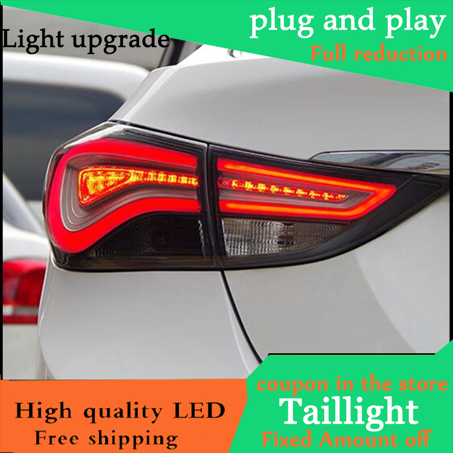 Car Styling Case For Hyundai Elantra 2012 2015 Taillights LED Tail Light LED Rear Lamp DRL