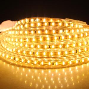 Image 3 - LAIMAIK LED 스트립 라이트 키트 SMD3014 AC220V 120led/M 화환 테이프 IP67 방수 LED 조명 스트립 + EU 플러그 Led 스트립 조명