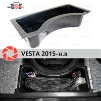 Для Lada Vesta 2015 органайзер в багажник кабина на колесах пластик ABS Защитная крышка автомобиля Стайлинг Аксессуары защита