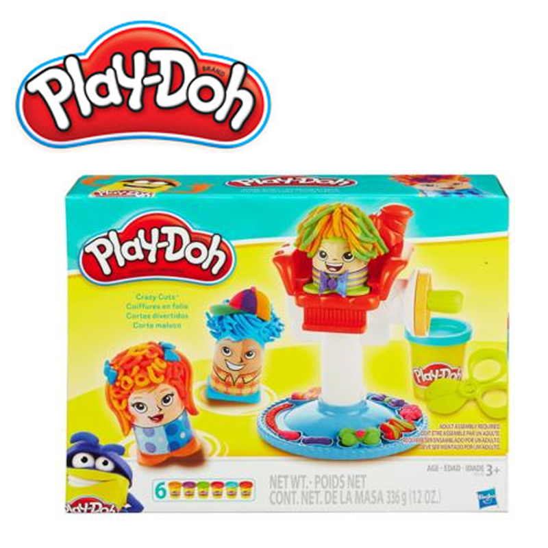 Modeling clay PLAY-DOH Crazy hair salon B0068H 4pcs professional hair salon hair comb and mirror kits salon barber comb brushes anti static hairbrush hair care styling j25c