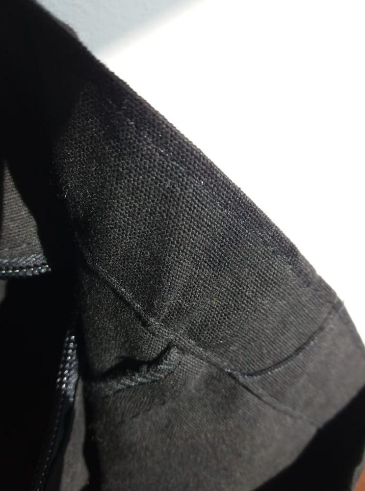 YILE Zip Cotton Canvas Eco Shopping Tote Shoulder Bag English Letters Applique ZT613b photo review
