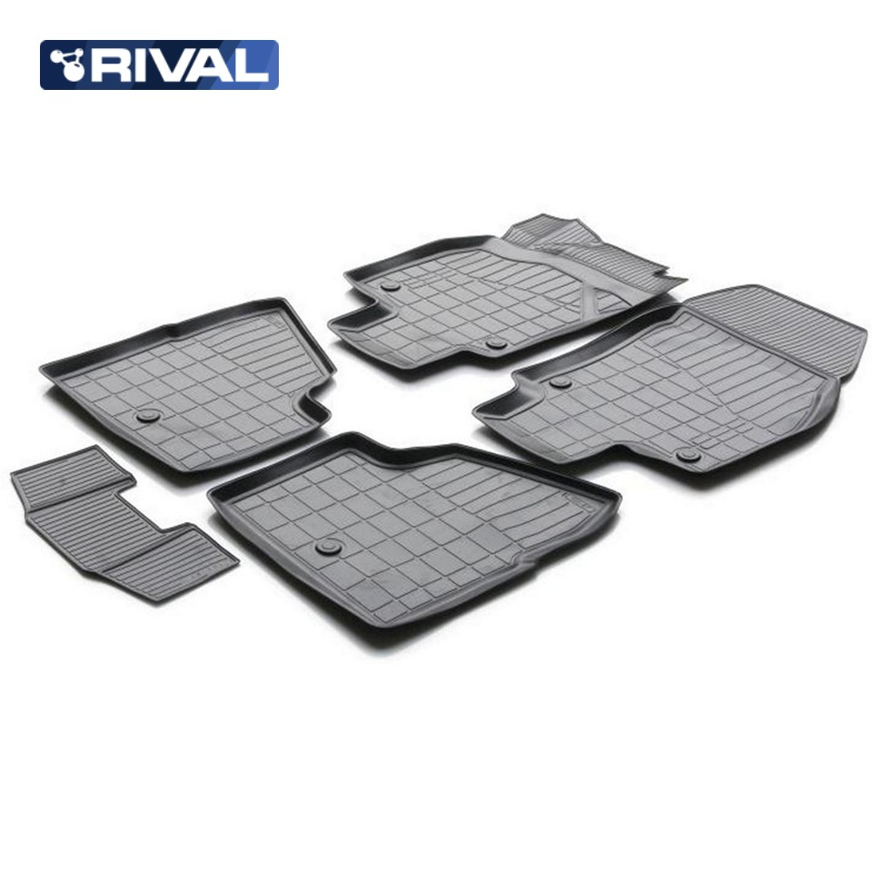 купить For Opel Astra H SEDAN 2004-2012 3D floor mats into saloon 5 pcs/set Rival 14202002 онлайн