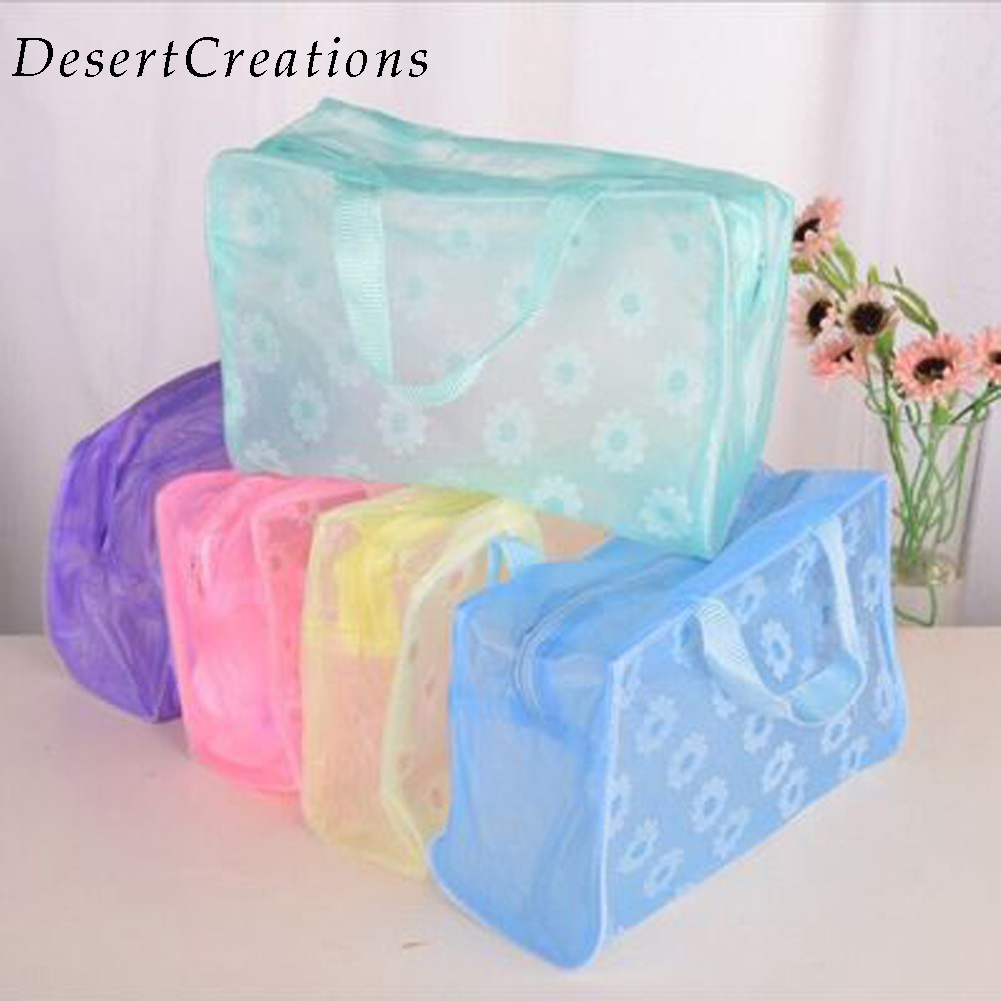 Fashion Waterproof PVC Makeup Cosmetics Bag Clear Transparent Travel Storage Box Wash Bathing Make Up Bag(China)