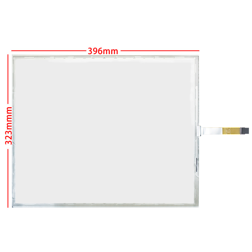 Original For 19inch 5 lines Resistive Touch Screen + control card 323*396*2.3mm Glass Monitor Digitizer Resistance Sensor