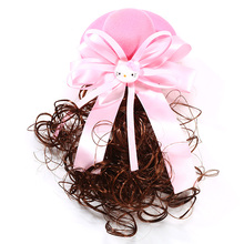 New Style Of Children Pretty Wig Hairpin With Wool Top Hat Girls Lovely Hair Accessories