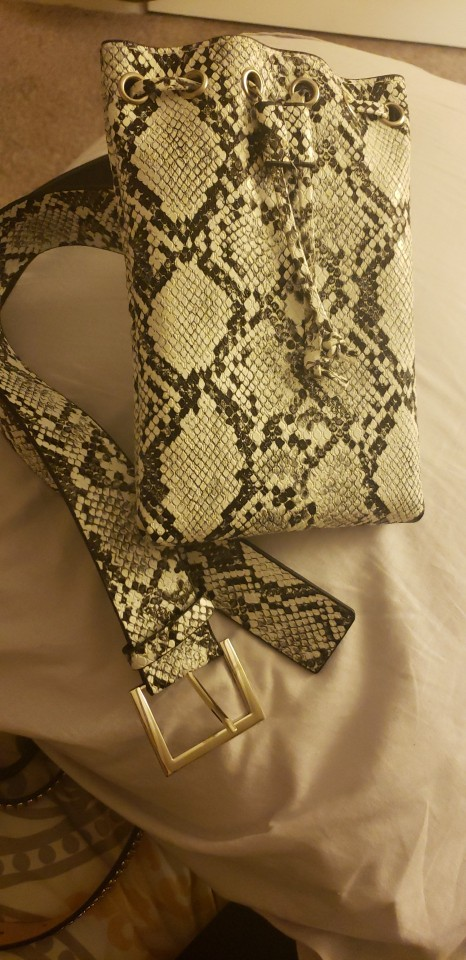 Women Waist Packs PU Waist Bag Alligator skin Fanny Pack Trouser Belt Bag Fashion Lady's snake Belt Purse Bucket Bags B47 photo review