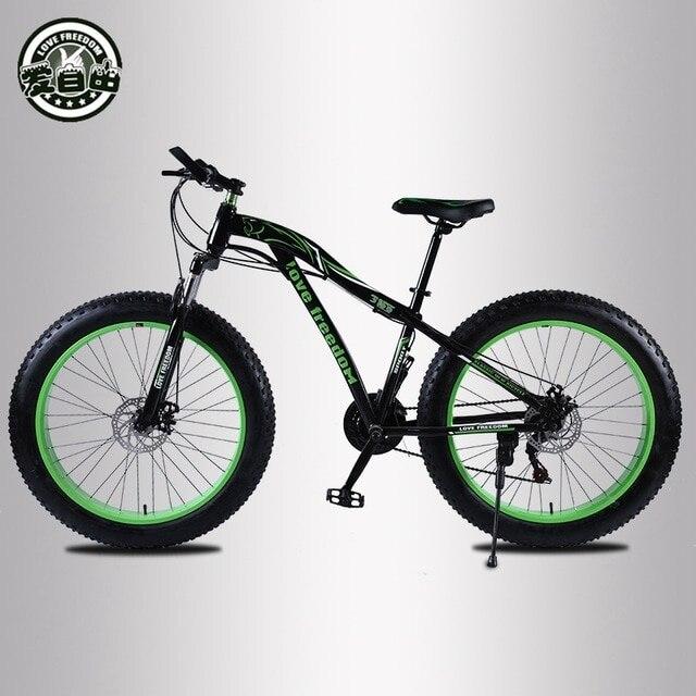 UTB8TfBwKtoSdeJk43Owq6ya4XXaj Love Freedom  Hot Sale 7/21/24/27 Speed Snow Bike 26-inch 4.0 Fat Bicycle Mechanical disc brake Mountain Bike Free Delivery