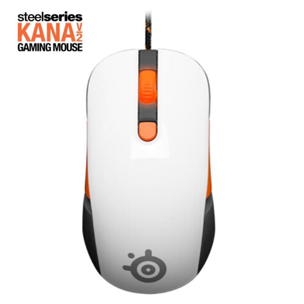 100% origianl SteelSeries Kana V2 souris Optique Gaming Mouse et souris Race Core Professionnel Jeu Souris Optique-blanc