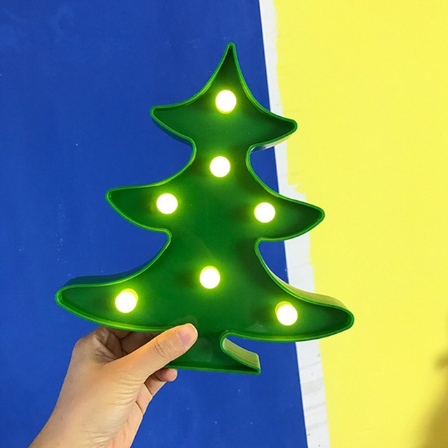 New christmas tree led lights green lighted lamp battery powered new christmas tree led lights green lighted lamp battery powered home wall decor christmas events party aloadofball Gallery