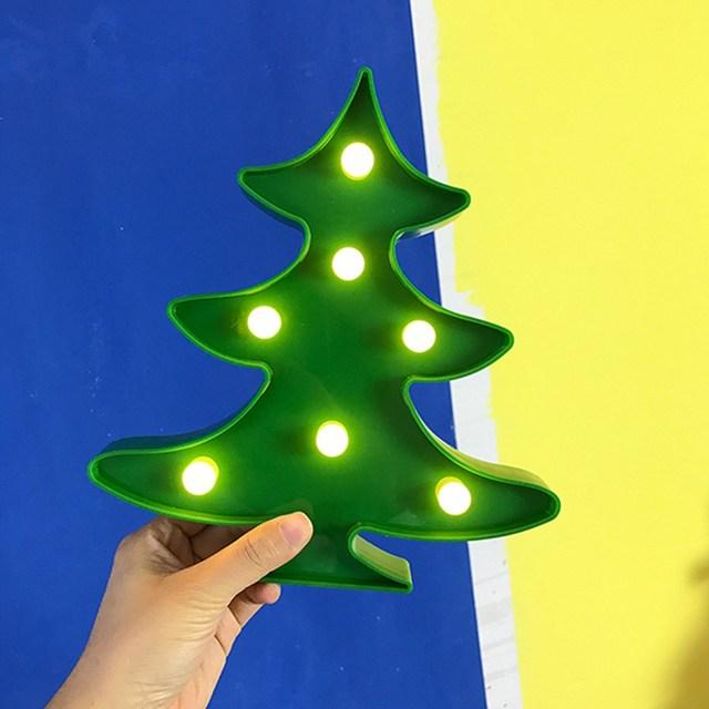 nieuwe kerstboom led verlichting groen verlichte lamp batterij aangedreven home muur decor kerst evenementen party