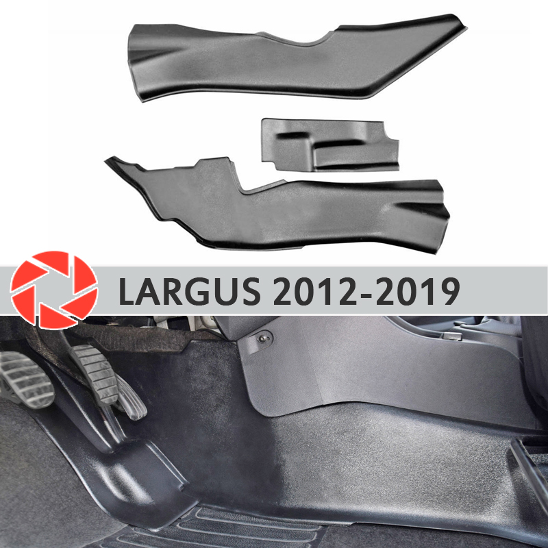 Couvercle de plaque de protection du tunnel intérieur pour Lada Largus 2012-2019 sous les pieds accessoires de garniture tapis de protection style de voiture