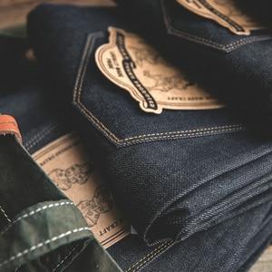 Мужские Винтажные прямые джинсы MADEN, необработанные джинсы с необработанными краями