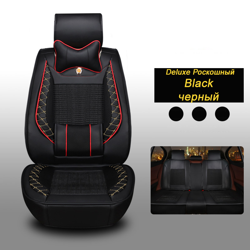 Front + Rear Leather car seat covers For Suzuki Aerio Kizashi XL7 Cultus Crescent Maruti DZIRE auto accessory car styling
